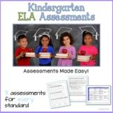 Kindergarten ELA Assessments Bundle