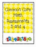 Kindergarten Common Core Assessments: Everyday Math Units 3&4
