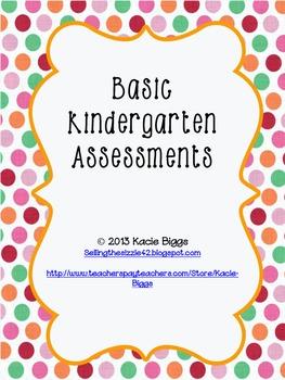 Kindergarten Common Core Basic Assessments
