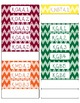 Kindergarten Common Core CCSS Labels and Posters Math and ELA-Chevron