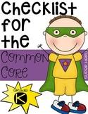 Kindergarten Common Core Checklist