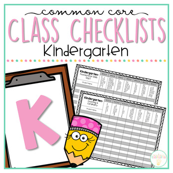Common Core Class Checklist: Kindergarten Bundle