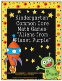 Kindergarten Common Core: Counting & Cardinality Game: Aliens from Planet Purple