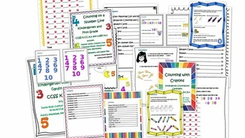 Kindergarten Common Core Counting and Cardinality Bundle