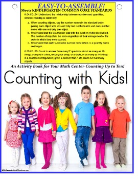 Kindergarten Common Core Counting to 10 Interactive Math Center