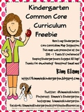 Kindergarten Common Core Curriculum Map
