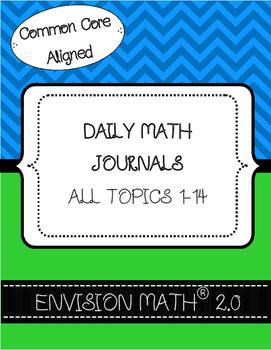 Kindergarten Common Core Daily Math Journals - BUNDLE - En