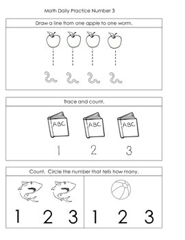 Kindergarten Common Core Daily Math Practice - First Term