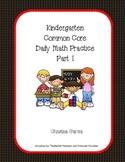 Kindergarten Common Core Daily Math Practice Part 1