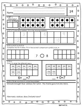 Kindergarten Common Core Daily Math Practice Part 2