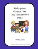 Kindergarten Common Core Daily Math Practice Part 3