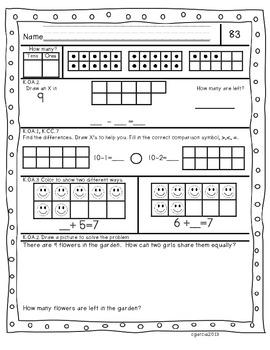 Kindergarten Common Core Daily Math Practice Part 5