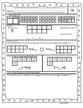 Kindergarten Common Core Daily Math Practice Part 4
