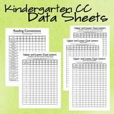 Kindergarten Common Core Data Sheets