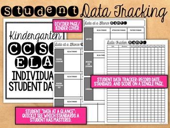 Kindergarten Common Core Data Tracking Binder {EDITABLE!}