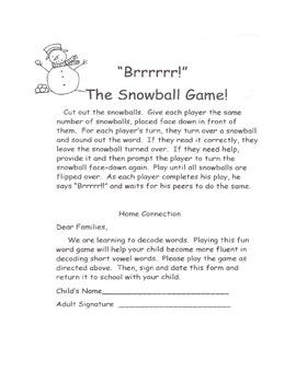 Kindergarten Common Core Decoding Short i cvc Game Activity Homework