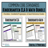 Kindergarten Common Core Documentation Checklists (ELA & Math)