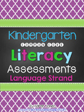 Kindergarten Common Core ELA Assessments - Language Standards