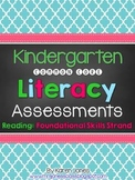 Kindergarten Common Core ELA Assessments - Reading: Foundational Skills Strand
