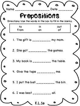 Kindergarten - Common Core ELA Language Assessments