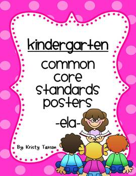 Kindergarten Common Core ELA Posters