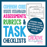 Kindergarten Common Core ELA and Math Assessment: Rubric and Task Checklist