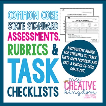 Kindergarten Common Core ELA and Math Assessment: Rubric a