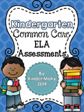 Kindergarten Common Core English Language Arts Assessments Packet
