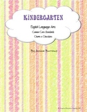 Kindergarten Common Core English Language Arts Charts & Checklists