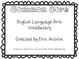 Kindergarten Common Core English Language Vocabulary