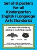 "Common Core ""I Can"" Statements Posters for Kindergarten {English/Language Arts}"