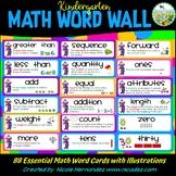 Kindergarten Math Word Wall