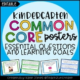 Kindergarten EDITABLE Essential Questions & Learning Goals
