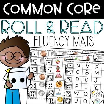 Kindergarten Common Core Fluency Mats: Letters, Sounds, Nu