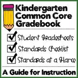 Kindergarten Common Core Gradebook and Checklists
