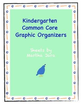 Common Core Graphic Organizers {Kindergarten Edition}