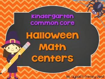 Halloween Centers for Kindergarten (Math) - No-Prep!