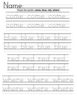 Kindergarten Common Core High Frequency Words: Activities + Centers 2nd 9 weeks