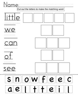 Kindergarten Common Core High Frequency Words Bundle: Activities + Centers