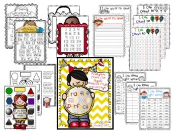 Kindergarten Common Core Homework Folder Practice Pages