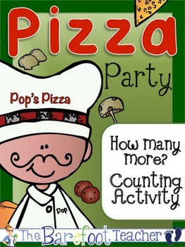 Kindergarten Common Core How Many More Pizza Counting Acti