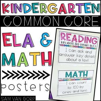 "Kindergarten Common Core ""I CAN"" Posters"