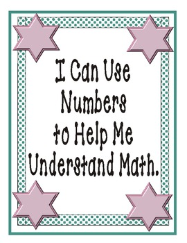 Kindergarten Common Core I Can Cards by Nita Marie