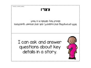 """Kindergarten Common Core """"I Can"""" Standards Posters {ELA ONLY}"""