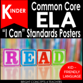 "Kindergarten Common Core ""I Can"" Standards Posters {ELA ONLY}"