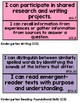 "Kindergarten Common Core ""I Can"" Statement Cards [color-coded]"