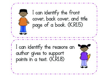 """Kindergarten Common Core """"I Can"""" Statements - Combo Pack"""