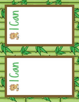 """Kindergarten Common Core """"I can"""" statements and JUNGLE Poster Display!"""