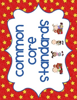 """Kindergarten Common Core """"I can"""" statements and SCHOOLKIDS Poster Display!"""