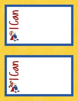 "Kindergarten Common Core ""I can"" statements and Superhero Poster Display!"